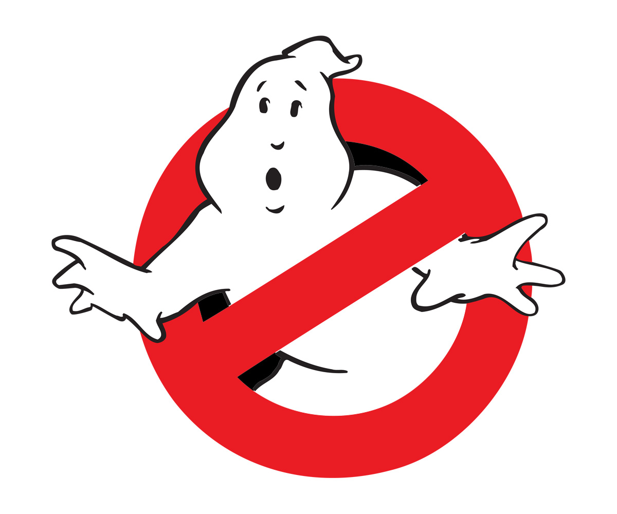 Free ghostbuster logo coloring pages