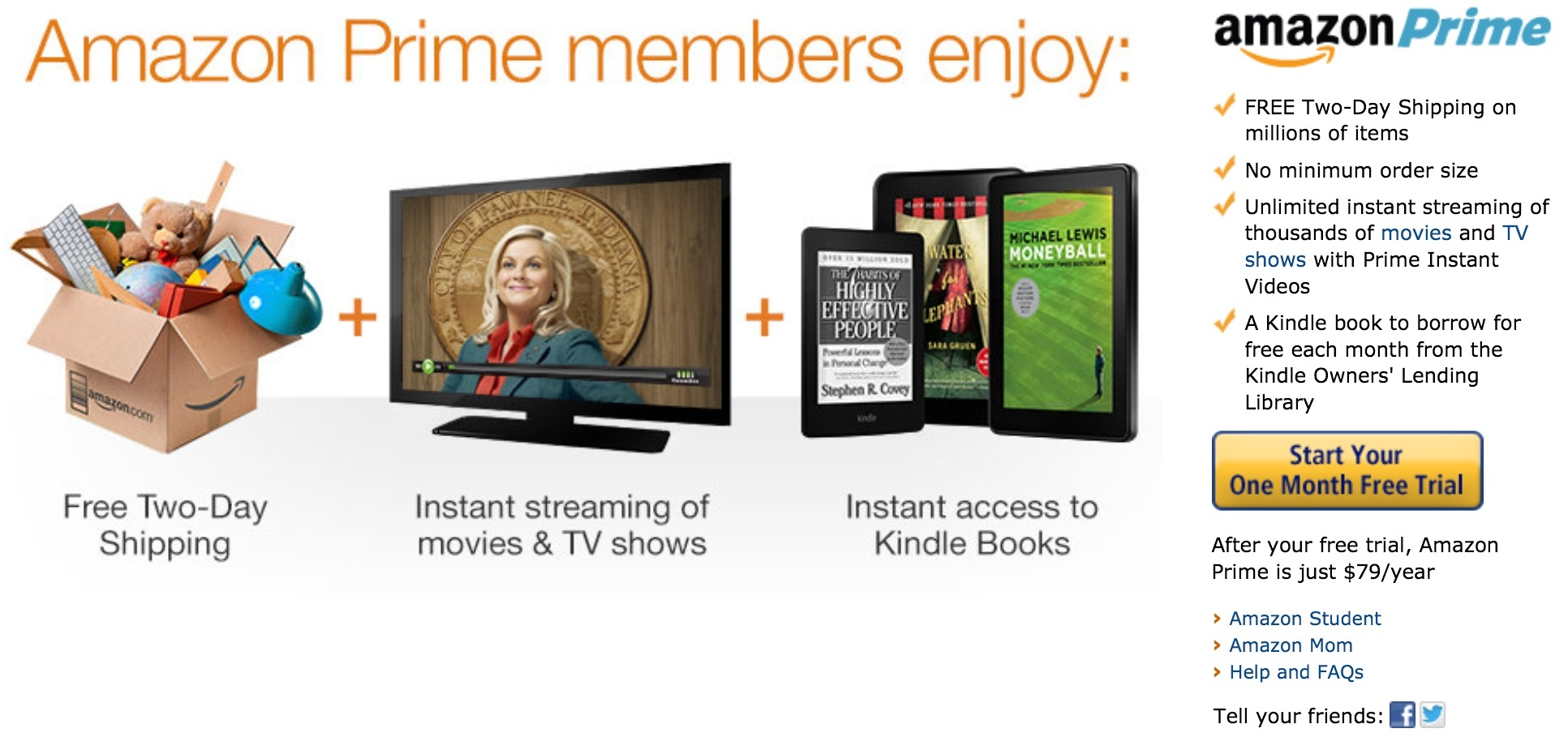 Amazon prime going monthly joining netflix and hulu for Amazon prive