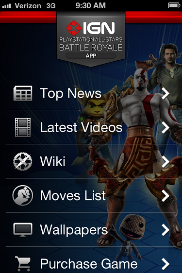 """Photo of IGN Releases Epic """"Playstation All-Stars"""" Companion App"""