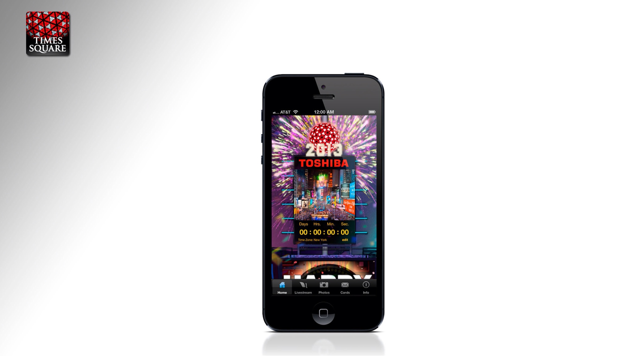 Photo of Revelers Across The Globe Will Ring In The New Year Via The Free Official 2013 Times Square Ball App