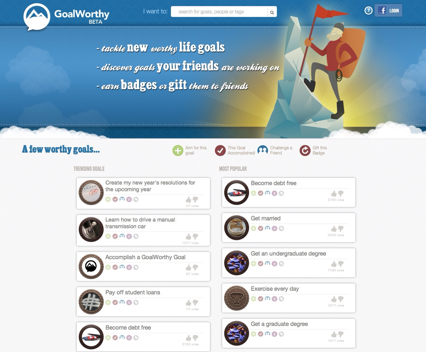 Photo of Launch of GoalWorthy: A Social Game for Life Goals and New Year's Resolutions