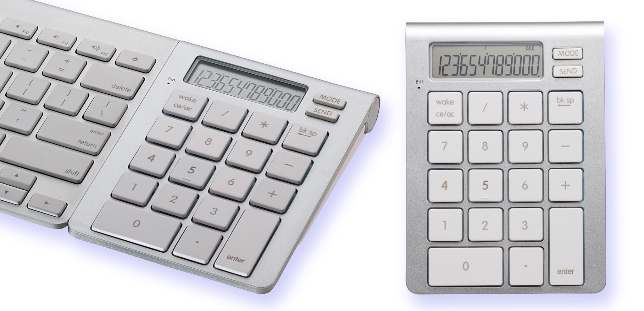 new icalctm bluetooth calculator keypad magnetically