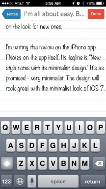 Photo of FNote – Easy Note-Taking for iOS 7
