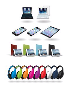 ZAGG's creative product solutions for the new Apple iPad Air include keyboards, cases, protective films and audio.