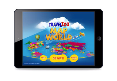 Travelzoo's free Map the World iPad app is designed to inspire children to learn about the world in which they live. (PRNewsFoto/Travelzoo Inc.)