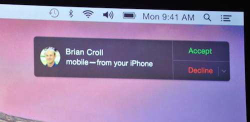 OS X Yosemite Continuity August 18, 2014