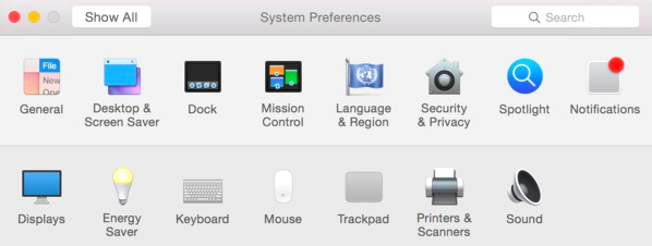 OS X Yosemite System Preferences August 18, 2014