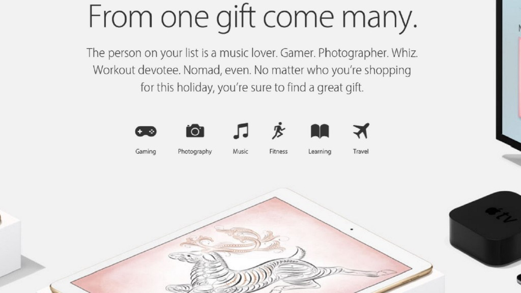Various Products Feature in Apple Online Holiday Gift Guide