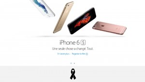 Apple Adds Black Ribbon to French Site After Paris Attacks