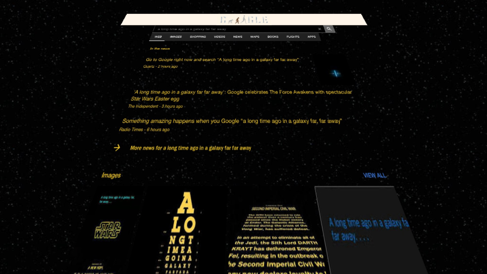 Photo of Google Imitates Star Wars Opening Crawl with New Easter Egg