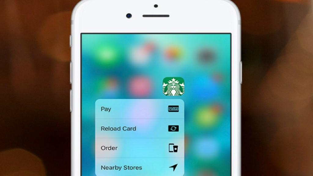 Starbucks iOS App Now Using 3D Touch for Faster Ordering