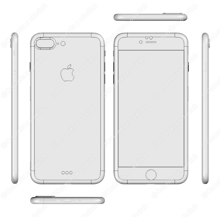 Revealing Blueprints of iPhone 7 and iPhone 7 Plus Leaked