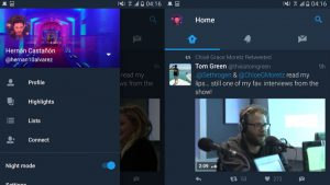 """Twitter Testing Eye-Friendly """"Night Mode"""" on Android App"""