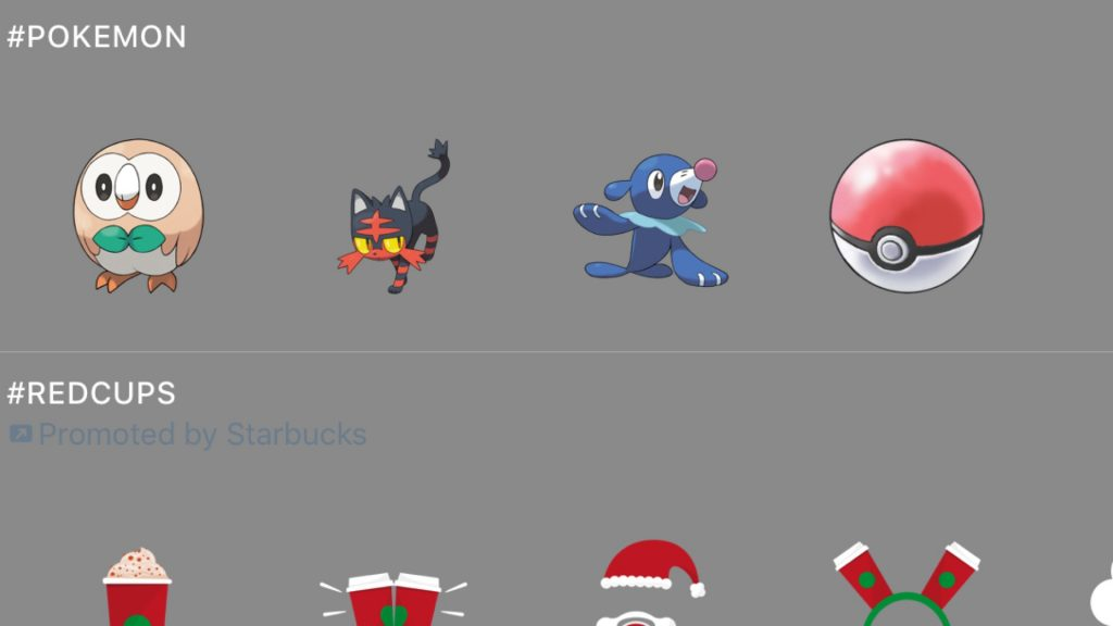 Twitter Adds New Stickers with Pokémon Sun and Moon Theme