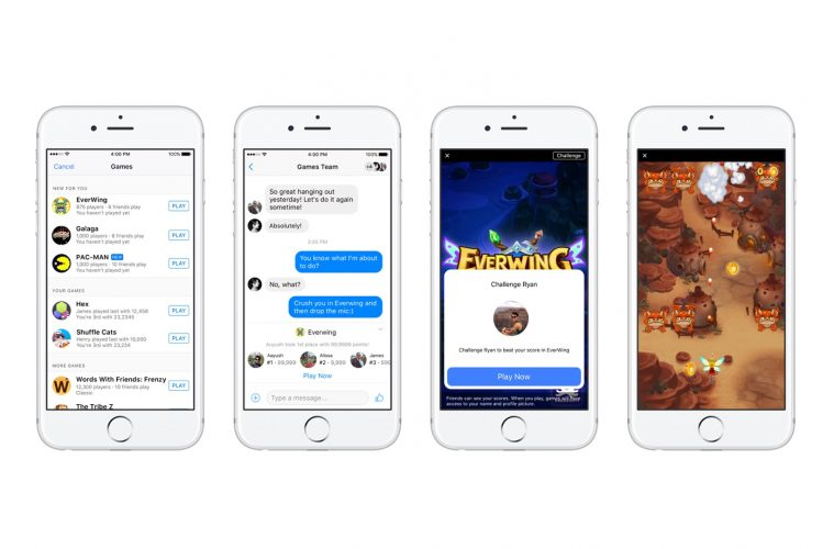 Facebook Launches Instant Games on Messenger and News Feed