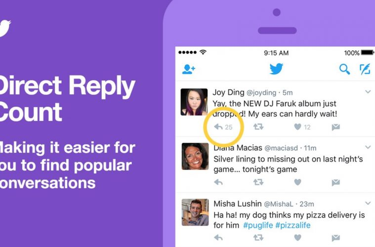 Twitter Adds Convo Ranking and Direct Reply Count to iOS App