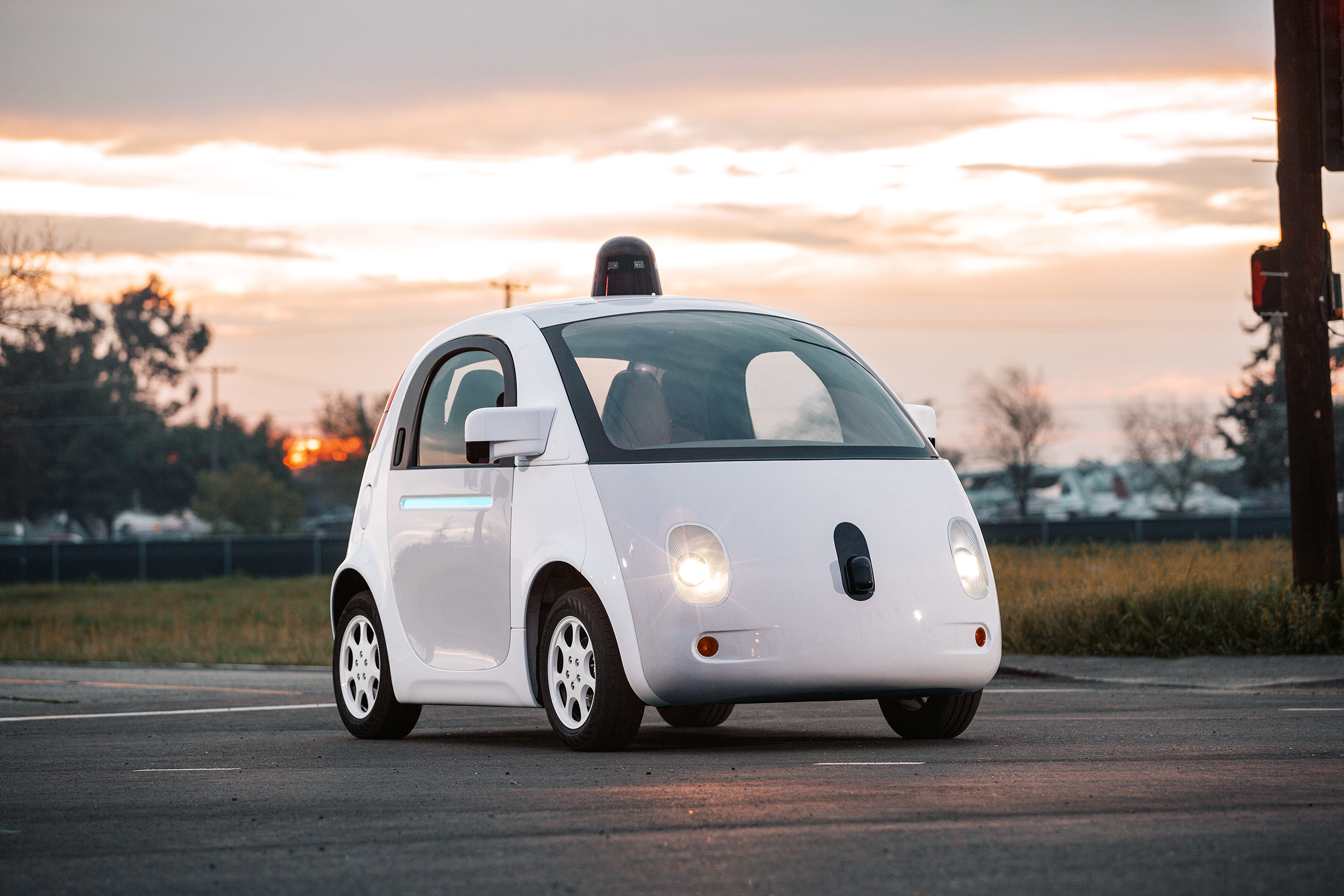 Photo of Google patent a 'crumpling car' system for safety