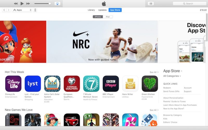 Apple have quietly released iTunes update with built-in app store