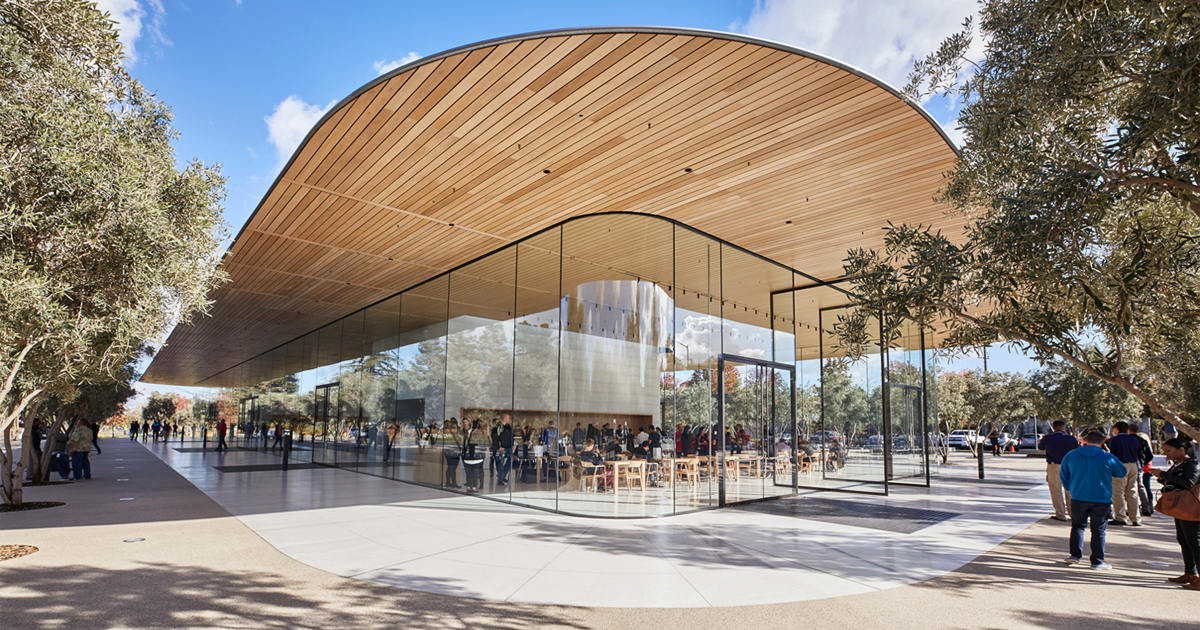 Photo of An AR experience of Apple Park's Visitor Center