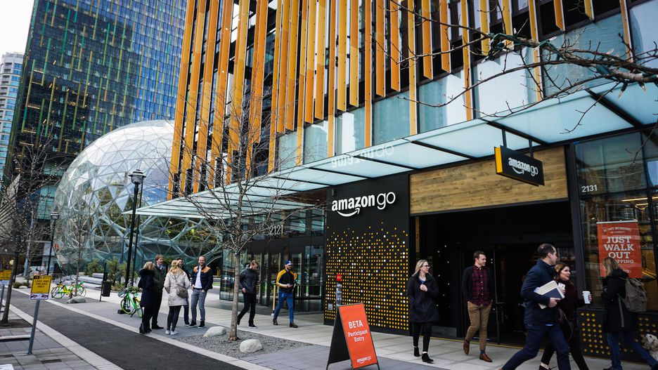 Photo of First Amazon Go Store opens in Seattle.