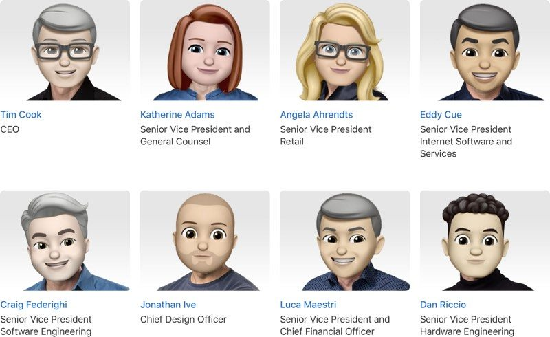 Photo of Apple leadership site given a Memoji overhaul for World Emoji Day