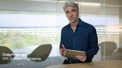 Photo of Craig Federighi shows off new iPad Pro in video from Apple Campus